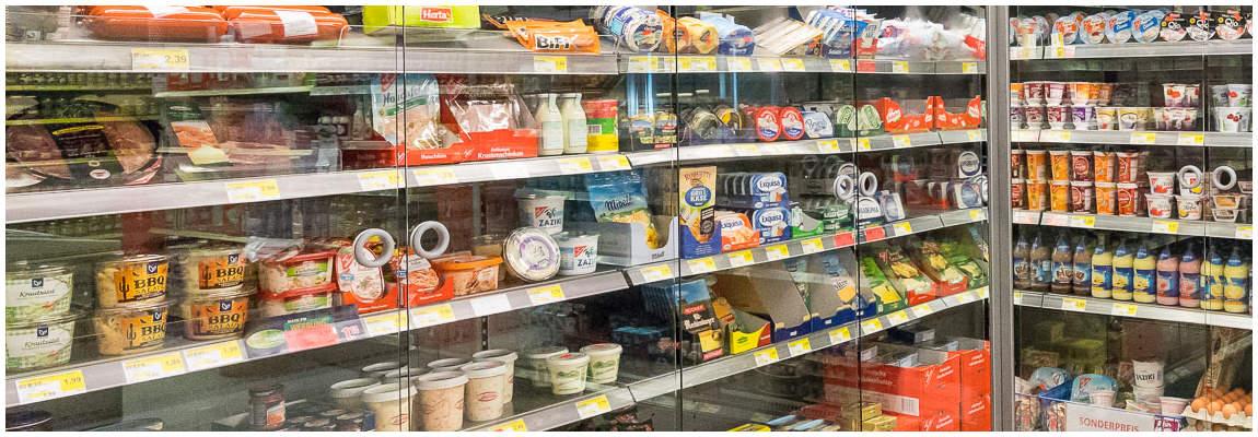 Gefrierschrank für Milchprodukte
